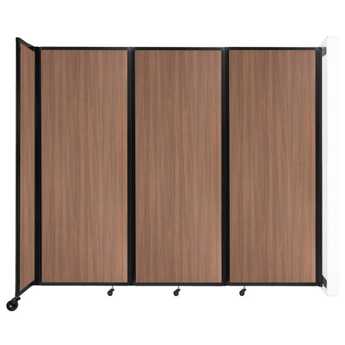 """Wall-Mounted Room Divider 360 Folding Portable Partition 8'6"""" x 7'6"""" River Birch Wood Grain"""