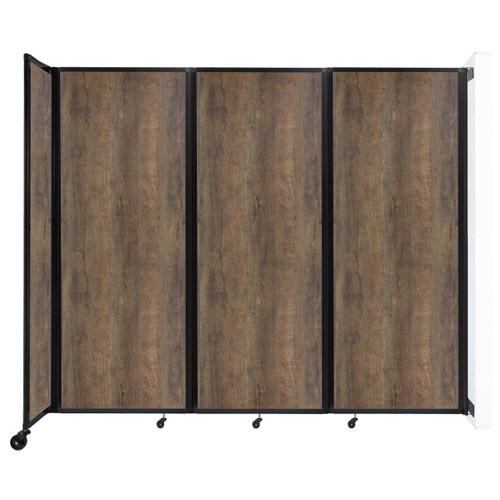 "Wall-Mounted Room Divider 360 Folding Portable Partition 8'6"" x 7'6"" Urban Oak Wood Grain"