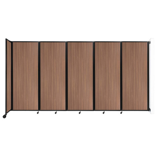 """Wall-Mounted Room Divider 360 Folding Portable Partition 14' x 7'6"""" River Birch Wood Grain"""