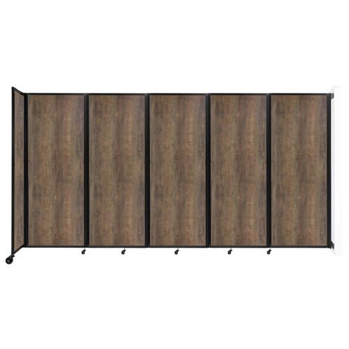 "Wall-Mounted Room Divider 360 Folding Portable Partition 14' x 7'6"" Urban Oak Wood Grain"
