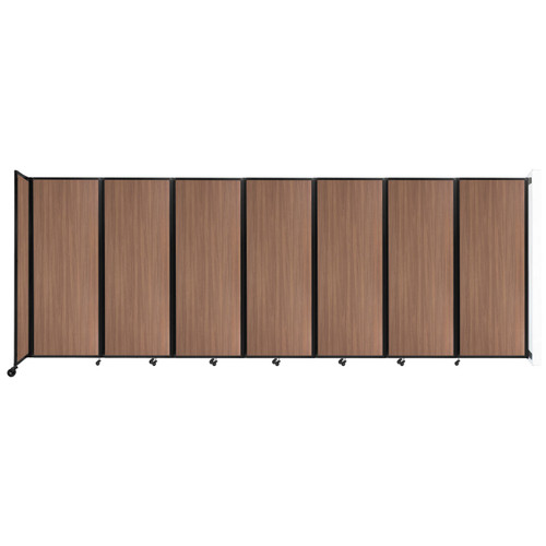"""Wall-Mounted Room Divider 360 Folding Portable Partition 19'6"""" x 7'6"""" River Birch Wood Grain"""