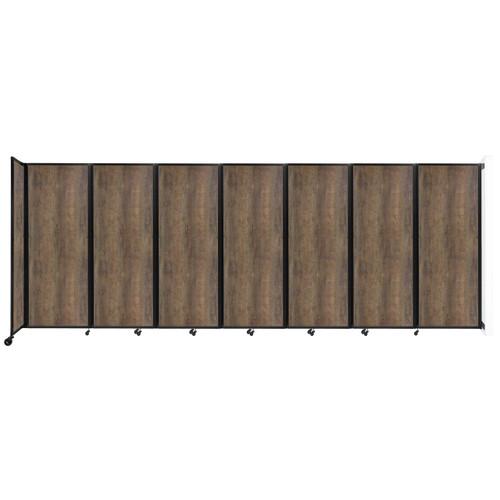 "Wall-Mounted Room Divider 360 Folding Portable Partition 19'6"" x 7'6"" Urban Oak Wood Grain"