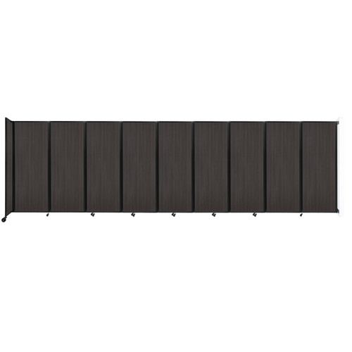 """Wall-Mounted Room Divider 360 Folding Portable Partition 25' x 7'6"""" Carbon Ash Wood Grain"""