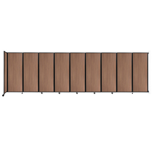 """Wall-Mounted Room Divider 360 Folding Portable Partition 25' x 7'6"""" River Birch Wood Grain"""