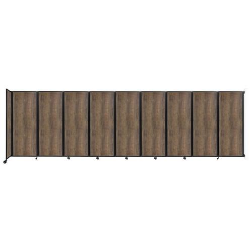 "Wall-Mounted Room Divider 360 Folding Portable Partition 25' x 7'6"" Urban Oak Wood Grain"