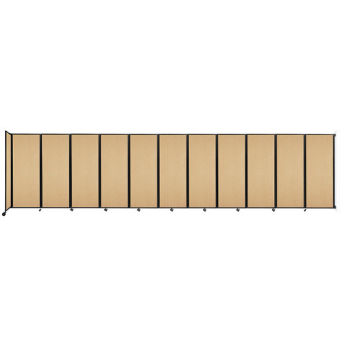 """Wall-Mounted Room Divider 360 Folding Portable Partition 30'6"""" x 7'6"""" Natural Maple Wood Grain"""