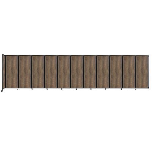 "Wall-Mounted Room Divider 360 Folding Portable Partition 30'6"" x 7'6"" Urban Oak Wood Grain"
