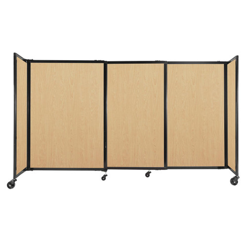 """StraightWall Sliding Portable Partition 7'2"""" x 4' Natural Maple Wood Grain"""