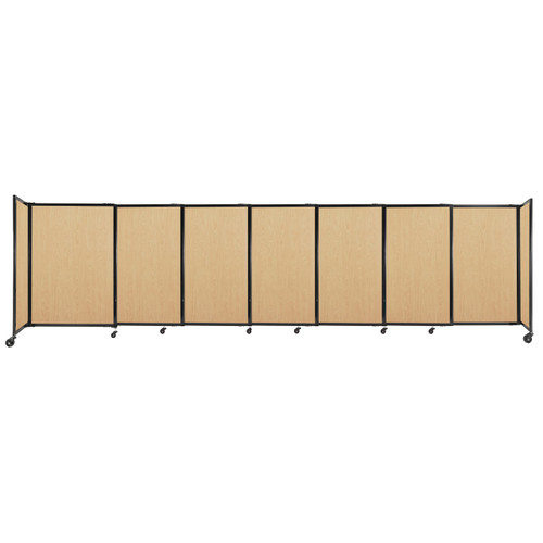 """StraightWall Sliding Portable Partition 15'6"""" x 4' Natural Maple Wood Grain"""