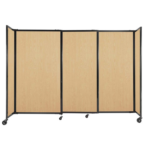 """StraightWall Sliding Portable Partition 7'2"""" x 5' Natural Maple Wood Grain"""