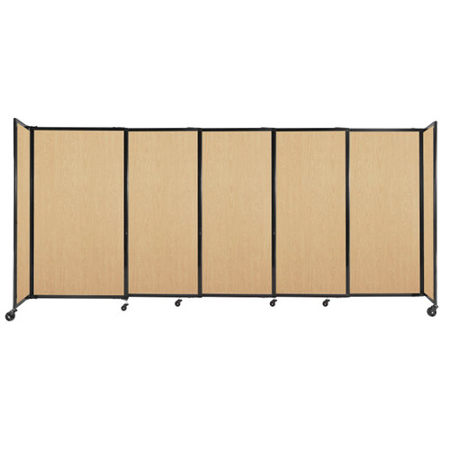 """StraightWall Sliding Portable Partition 11'3"""" x 5' Natural Maple Wood Grain"""