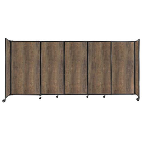 "StraightWall Sliding Portable Partition 11'3"" x 5' Urban Oak Wood Grain"