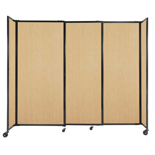 """StraightWall Sliding Portable Partition 7'2"""" x 6' Natural Maple Wood Grain"""
