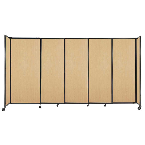 """StraightWall Sliding Portable Partition 11'3"""" x 6' Natural Maple Wood Grain"""
