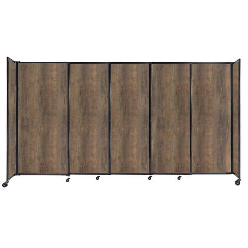 "StraightWall Sliding Portable Partition 11'3"" x 6' Urban Oak Wood Grain"