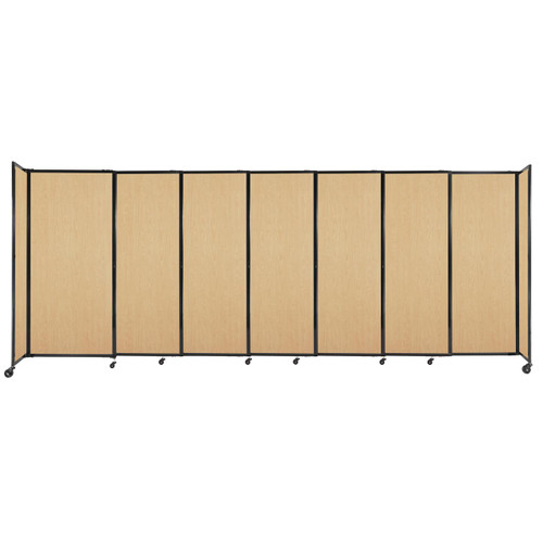 """StraightWall Sliding Portable Partition 15'6"""" x 6' Natural Maple Wood Grain"""