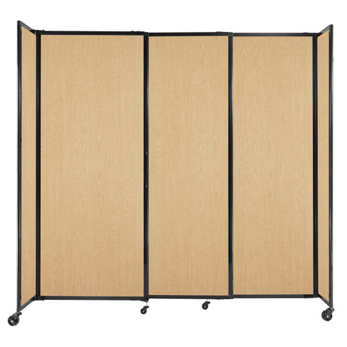 """StraightWall Sliding Portable Partition 7'2"""" x 6'10"""" Natural Maple Wood Grain"""