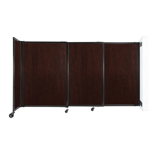 """Wall-Mounted StraightWall Sliding Partition 7'2"""" x 4' Espresso Cherry Wood Grain"""