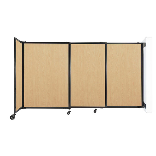 """Wall-Mounted StraightWall Sliding Partition 7'2"""" x 4' Natural Maple Wood Grain"""