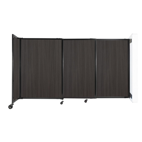 """Wall-Mounted StraightWall Sliding Partition 7'2"""" x 4' Carbon Ash Wood Grain"""