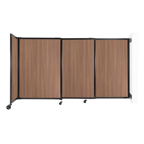 """Wall-Mounted StraightWall Sliding Partition 7'2"""" x 4' River Birch Wood Grain"""