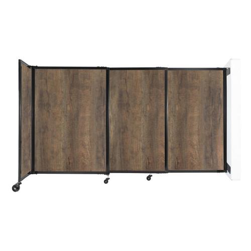 "Wall-Mounted StraightWall Sliding Partition 7'2"" x 4' Urban Oak Wood Grain"