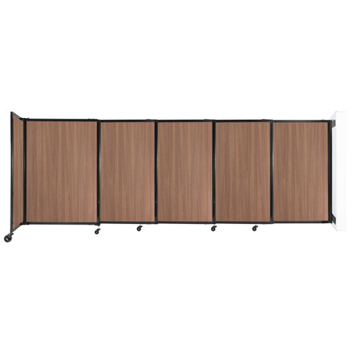 """Wall-Mounted StraightWall Sliding Partition 11'3"""" x 4' River Birch Wood Grain"""