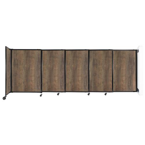 "Wall-Mounted StraightWall Sliding Partition 11'3"" x 4' Urban Oak Wood Grain"