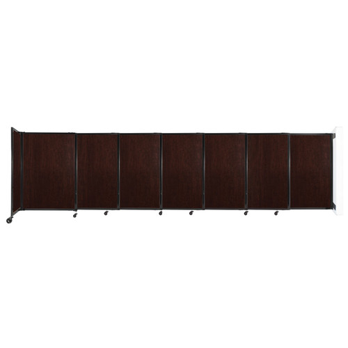 """Wall-Mounted StraightWall Sliding Partition 15'6"""" x 4' Espresso Cherry Wood Grain"""