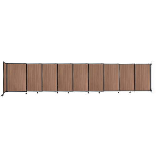 """Wall-Mounted StraightWall Sliding Partition 19'9"""" x 4' River Birch Wood Grain"""