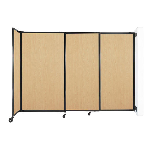 """Wall-Mounted StraightWall Sliding Partition 7'2"""" x 5' Natural Maple Wood Grain"""