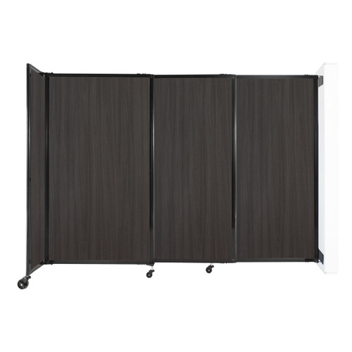 """Wall-Mounted StraightWall Sliding Partition 7'2"""" x 5' Carbon Ash Wood Grain"""