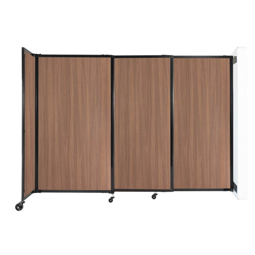 """Wall-Mounted StraightWall Sliding Partition 7'2"""" x 5' River Birch Wood Grain"""