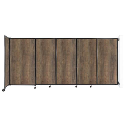 "Wall-Mounted StraightWall Sliding Partition 11'3"" x 5' Urban Oak Wood Grain"