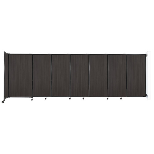 """Wall-Mounted StraightWall Sliding Partition 15'6"""" x 5' Carbon Ash Wood Grain"""
