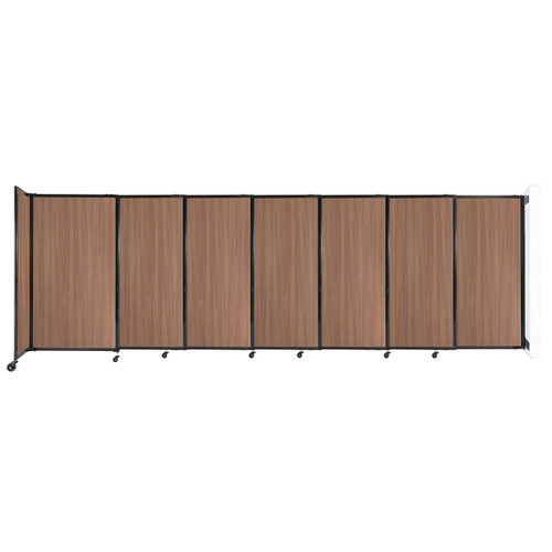 """Wall-Mounted StraightWall Sliding Partition 15'6"""" x 5' River Birch Wood Grain"""