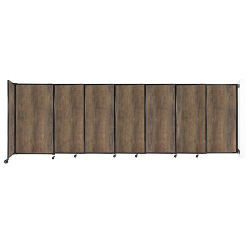 "Wall-Mounted StraightWall Sliding Partition 15'6"" x 5' Urban Oak Wood Grain"