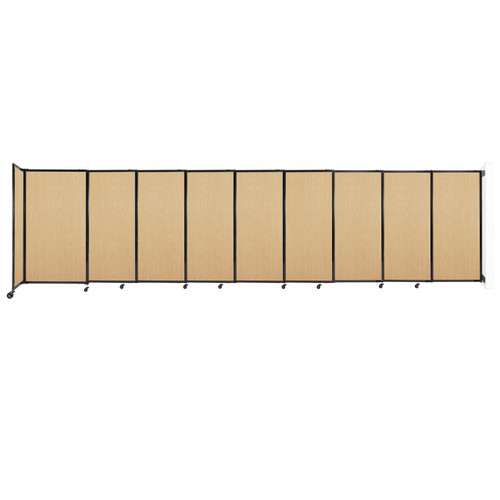 """Wall-Mounted StraightWall Sliding Partition 19'9"""" x 5' Natural Maple Wood Grain"""