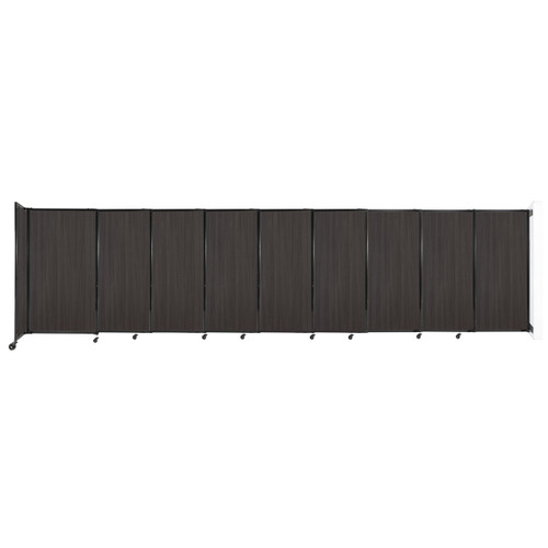 """Wall-Mounted StraightWall Sliding Partition 19'9"""" x 5' Carbon Ash Wood Grain"""