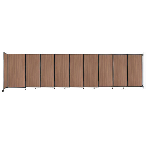 """Wall-Mounted StraightWall Sliding Partition 19'9"""" x 5' River Birch Wood Grain"""