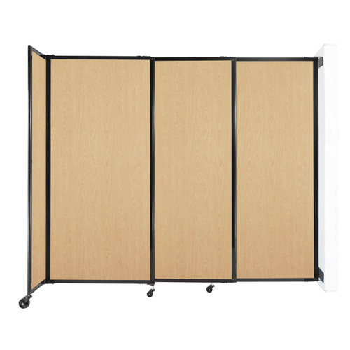 """Wall-Mounted StraightWall Sliding Partition 7'2"""" x 6' Natural Maple Wood Grain"""
