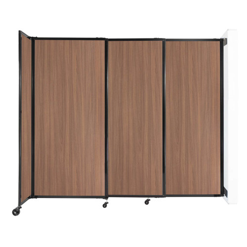 """Wall-Mounted StraightWall Sliding Partition 7'2"""" x 6' River Birch Wood Grain"""
