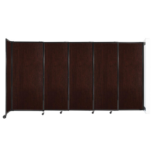 """Wall-Mounted StraightWall Sliding Partition 11'3"""" x 6' Espresso Cherry Wood Grain"""