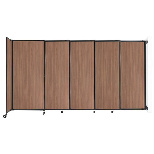"""Wall-Mounted StraightWall Sliding Partition 11'3"""" x 6' River Birch Wood Grain"""