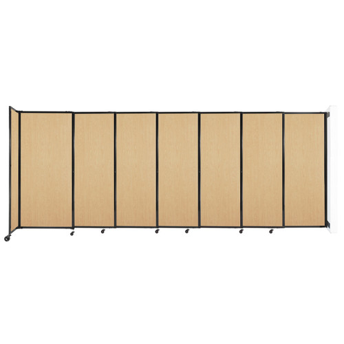 """Wall-Mounted StraightWall Sliding Partition 15'6"""" x 6' Natural Maple Wood Grain"""