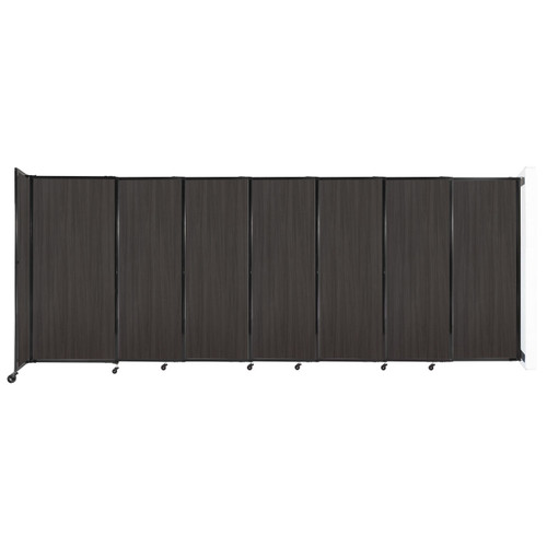 """Wall-Mounted StraightWall Sliding Partition 15'6"""" x 6' Carbon Ash Wood Grain"""