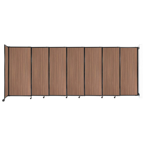 """Wall-Mounted StraightWall Sliding Partition 15'6"""" x 6' River Birch Wood Grain"""