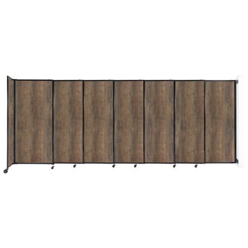 "Wall-Mounted StraightWall Sliding Partition 15'6"" x 6' Urban Oak Wood Grain"