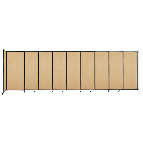 """Wall-Mounted StraightWall Sliding Partition 19'9"""" x 6' Natural Maple Wood Grain"""
