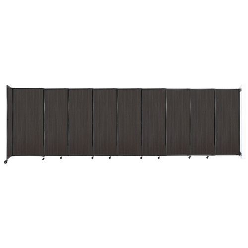 """Wall-Mounted StraightWall Sliding Partition 19'9"""" x 6' Carbon Ash Wood Grain"""
